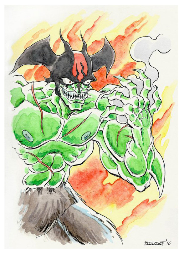 Devilman watercolour
