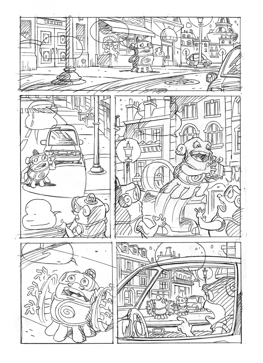 "Pencil sample for licensed adaptation of ""Home"" feature film"