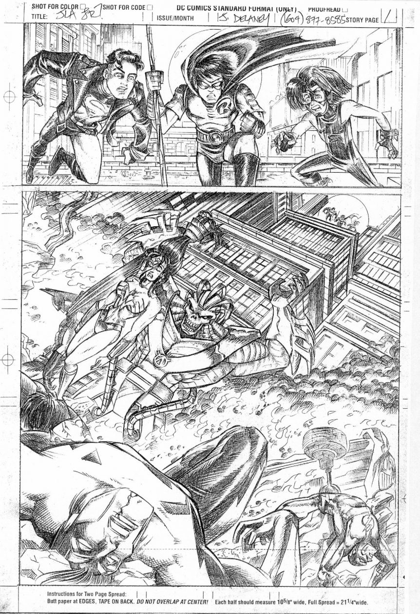 John Delaney Sample Pencils for Adventures In The DC Universe